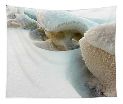 Snow Sculpture  Tapestry