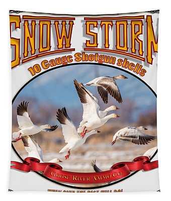 Snow Storm 10 Gauge Shotgun Shells Tapestry