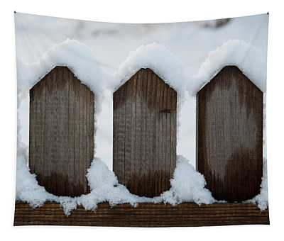 Snow Topped Spikes Tapestry