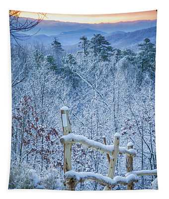 Snow Trail Tapestry