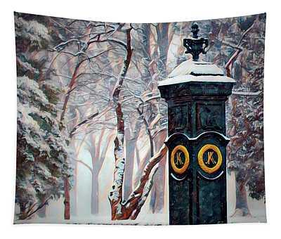 Snowy Keeneland Tapestry