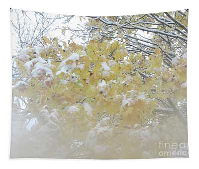 Snowy Maple Tapestry