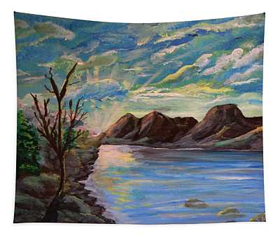 Snowy Range And Lookout Lake Tapestry