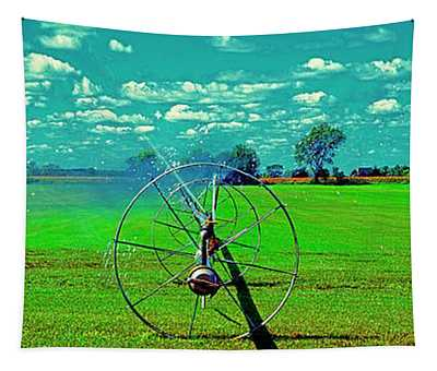 Sod Farm Irrigator Ill Country Roads  Tapestry