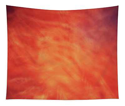 Soft Artistic Fire Like Background Of Red, Orange And Yellow Swirls Tapestry