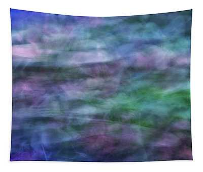 Soft Flowing Abstract Background With Purples, Blues And Green Lines And Shapes Tapestry