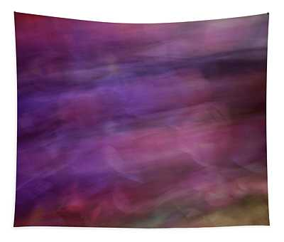 Soft Flowing Pastel Abstract Line Background With Purples, Blues And Green Lines And Shapes Tapestry