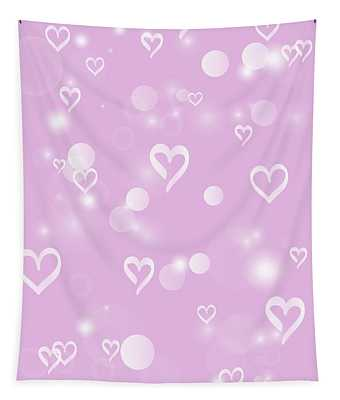 Soft Hearts Tapestry