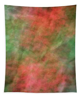 Soft Pastel Abstract Shapes Background With Oranges And Greens Tapestry