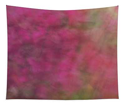 Soft Pastel Flower Like Abstract And Flowing Blurred Design Of Pinks And Greens Tapestry