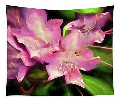 Soft Rhodie Blooms 6 Tapestry
