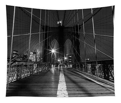 Solitude On The Brooklyn Bridge Tapestry