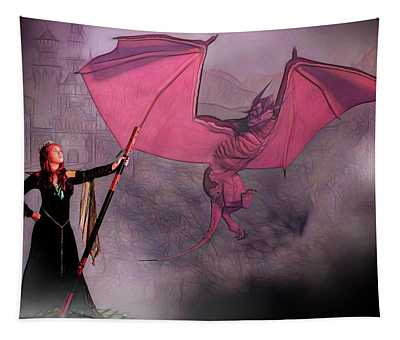 Sorceress And The Dragon Tapestry