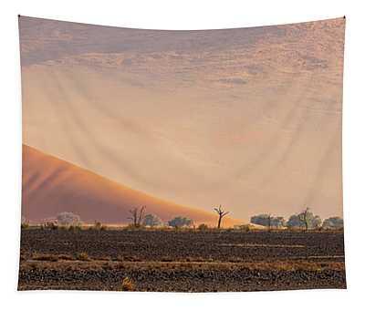 Sossusvlei Dunes And Trees Tapestry