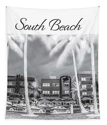 South Beach Silhouette Tapestry