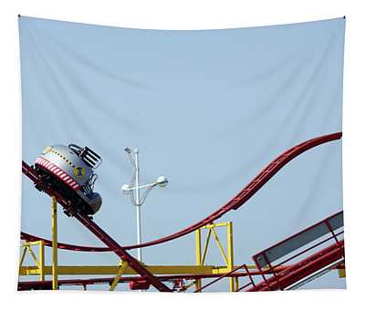 Southport.  The Fairground. Crash Test Ride. Tapestry