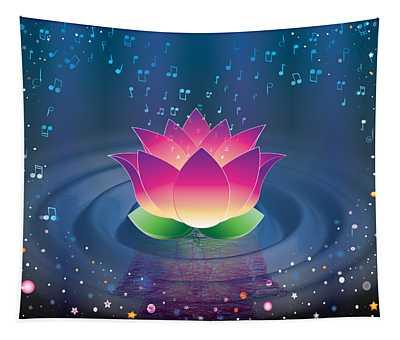 Space Lotus Tapestry