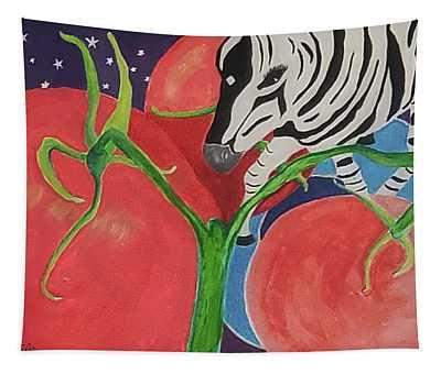 Space Zebra Tapestry