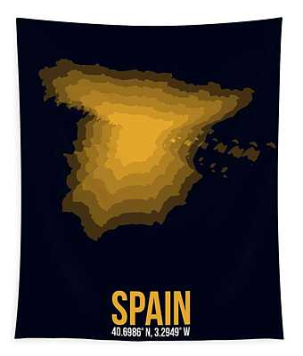 Spain Radiant Map 1 Tapestry