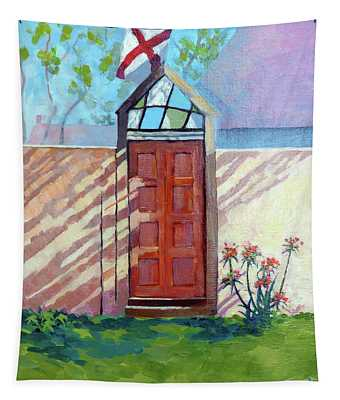 Spanish Stained Glass Door Tapestry