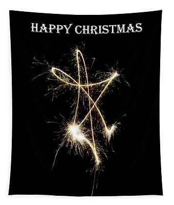 Sparkly Star - Happy Christmas Tapestry