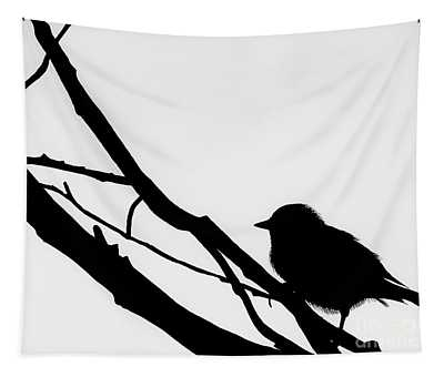 Sparrow In A Gray Sky Tapestry