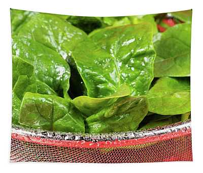 Spinach Colander Panorama Tapestry