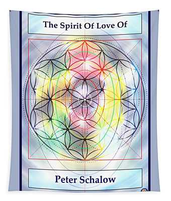 Spirit Of Love Of Peter Schalow Tapestry