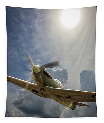 Spitfire Under The Sun Tapestry