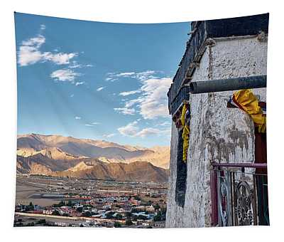 Tapestry featuring the photograph Spituk Gompa by Whitney Goodey