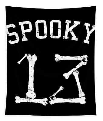 Spooky 13 Halloween Jersey Tapestry