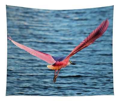 Spoonbill Wingspan Tapestry
