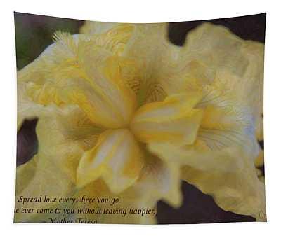 Spreading Love - Motivational Flower Art By Omaste Witkowski Tapestry