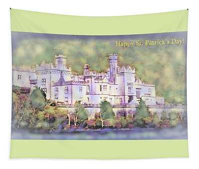 Spring At Kylemore Abbey Ireland Tapestry