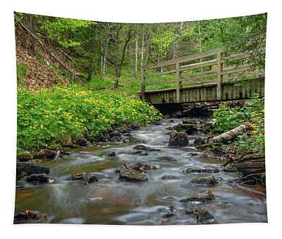 Spring At Munising Creek Tapestry