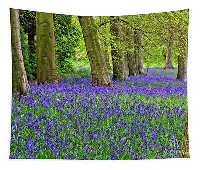 Spring Bluebell Woodland Tapestry