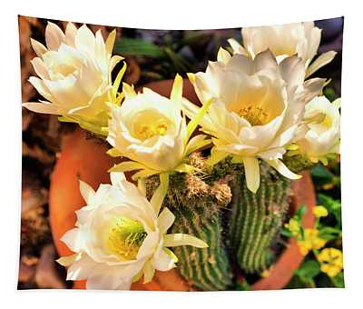 Spring Cactus Blooms Tapestry
