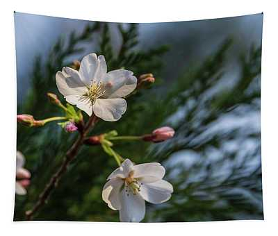 Spring Cherry Flowers Tapestry