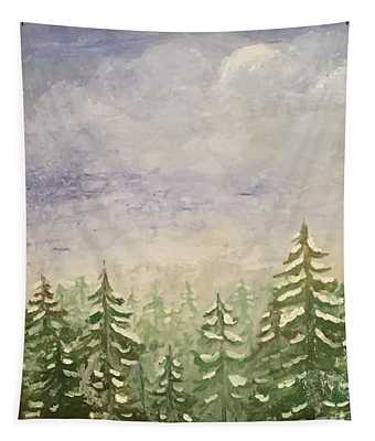 spring flurry Teton Style Tapestry