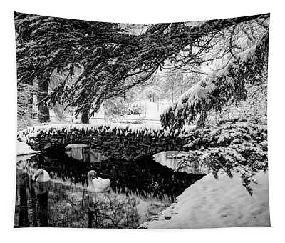 Spring Grove In The Snow Tapestry