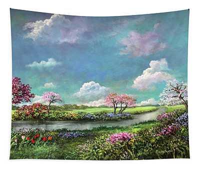 Spring In The Garden Of Eden Tapestry