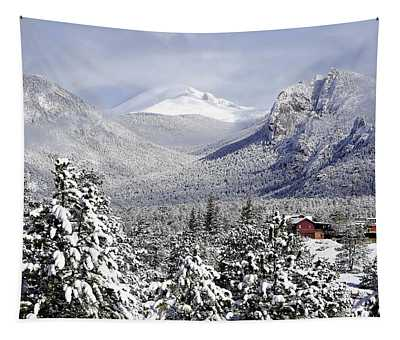 Spring Snow In Estes Park Colorado Tapestry