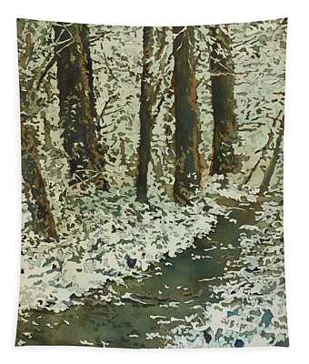 Spring Snow On Croisan Scenic Tapestry