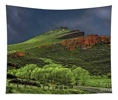 Spring Storm At Milepost 84 Tapestry