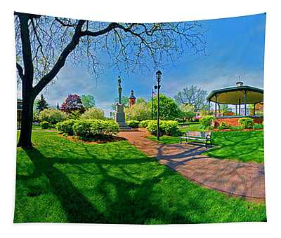 Spring Time In Wood Stock Square 360 Pan  Tapestry