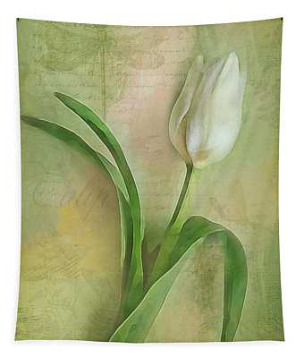Spring Tulip Montage Tapestry