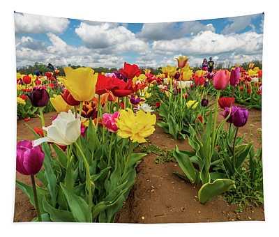 Spring Tulips Tapestry