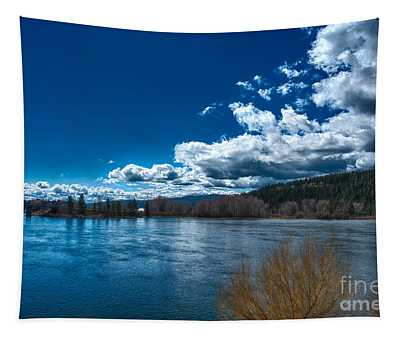 Tapestry featuring the photograph Springtime On The Spokane River by Matthew Nelson
