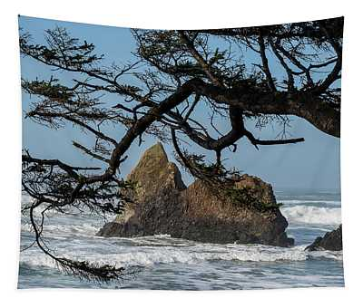 Spruce And Seastacks Tapestry
