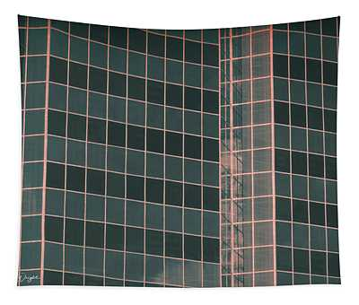 Square Glass Angles Tapestry